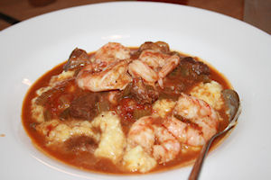 The star of the evening: Shrimp and grits